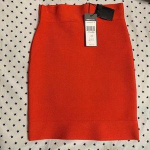 Bcbg maxazria poppy orange mini skirt